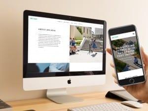 Arcadia website 2