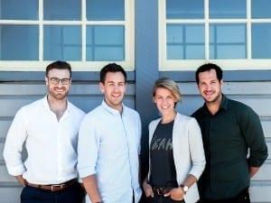 L-R: James Kidd, Ryan Morton, Valerie Ostermann and Cliff Dean